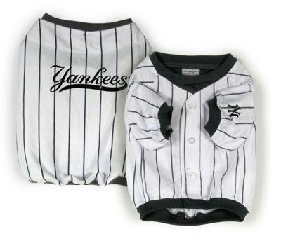 New York Yankees Pinstripe Dog Jersey Shirt Size Large