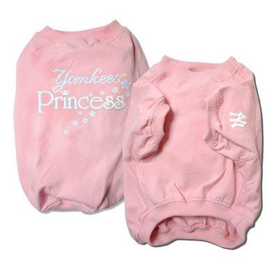 New York Yankees Princess Pink Dog T Shirt Size X-Large