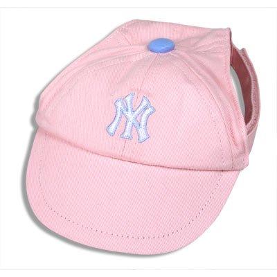 New York Yankees Princess Pink Dog Baseball Cap Hat Size M/L