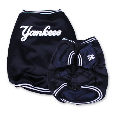 New York Yankees Official MLB Dougout Dog Jacket Coat Size XS