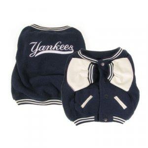 New York Yankees Varsity Style Dog Jacket Coat Size X-Large