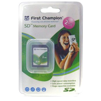 FIRST CHAMPION® 2GB SD MEMORY CARD