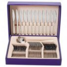 Sterlingcraft® 49pc Stainless Steel Flatware Set with Gold-Plated Trim