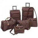 Gigi Chantal™ 6pc Brown Tapestry Luggage Set