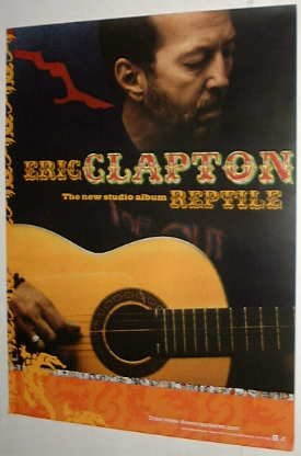 "ERIC CLAPTON REPTILE US 18""x24"" PROMO ONLY POSTER MINT!"