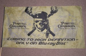 PIRATES OF THE CARIBBEAN  DEAD MAN'S CHEST FLAG 37 x 19