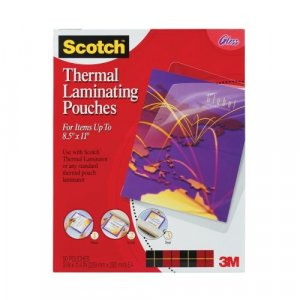 3M SCOTCH THERMAL HEAT LAMINATING POUCHES~50 SHEETS POUCH~NEW
