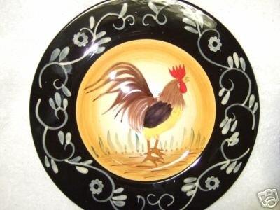 Ceramic rooster Plates