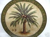 Decorative Plate with Palm Trees