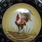 Ceramic Rooster Dinner Plates