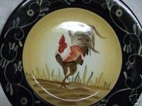 Ceramic Rooster Dinner Plates