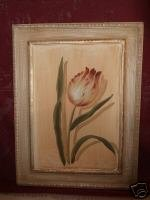 Wooden Picture of an Tulip