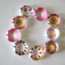 Burst of Color Floral Marble Magnets
