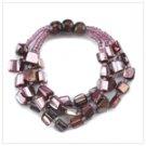 Lavendar Calypso 3 piece Set  earrings bracelet necklace