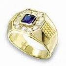 Mens Montana Blue CZ Ring