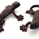 SET/4 Cast Iron Rust Gecko Lizards