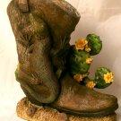 Lizard/Gecko  Western Boot Planter