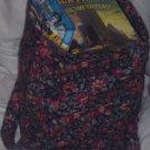 Dark Colored Floral Tote Bag