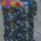 Blue & Gold Floral Tote Bag