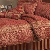 Pem America Macaualy Red Stripe King Comforter Set with Bonus Pillows