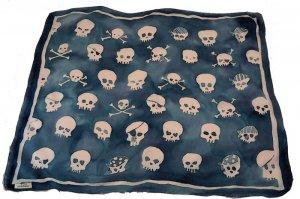 custom hand painted skull scarf