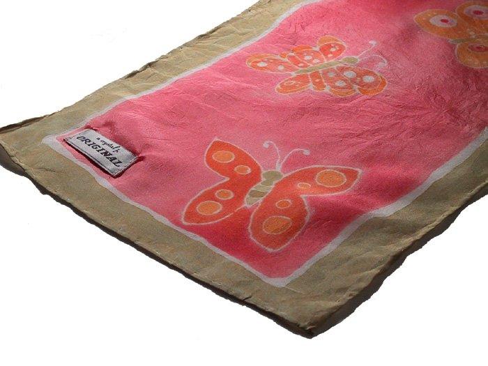 custom butterfly scarf