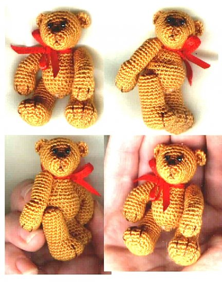 CLINT Thread Crochet Bear Pattern by Edith Molina