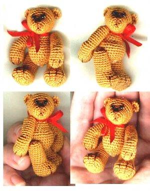 CLINT Thread Crochet Bear Pattern by Edith Molina