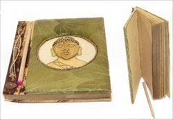 Natural Leaf Journal With Buddha Image