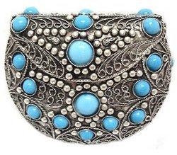 Agate Inlaid Handbag Tourqoise