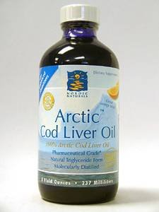 Arctic Cod Liver Oil Liquid - Orange 8 oz