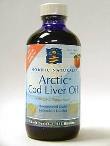 Arctic Cod Liver Oil Liquid - Peach 8 oz