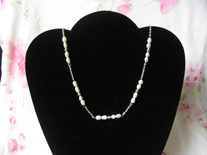 """17.5"""" Fresh Water Suspended Pearl Necklace"""