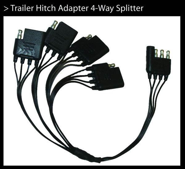 Trailer Hitch Adapter 4 -way  Splitter