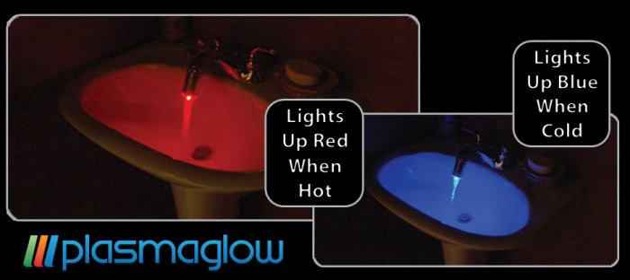 LED Faucet Lights - Chrome Finish- Color-Changing