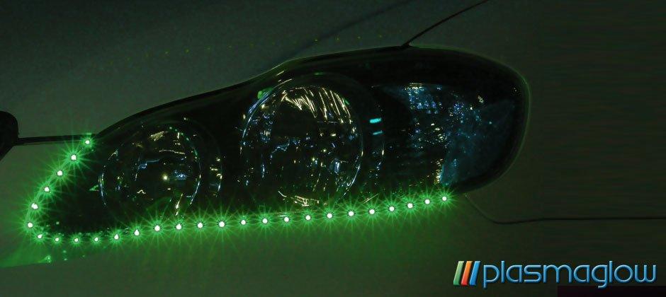 LIGHTNING EYES LED HEADLIGHT KIT - green