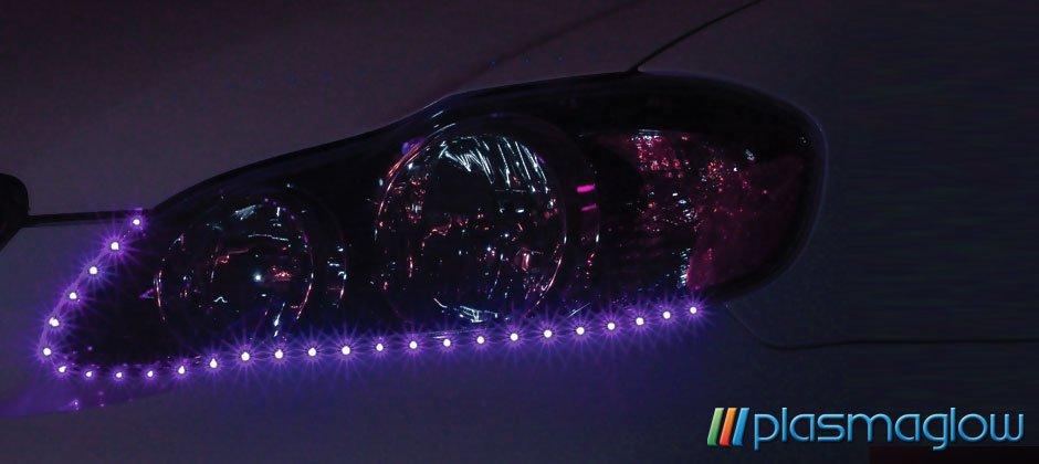 LIGHTNING EYES LED HEADLIGHT KIT - purple