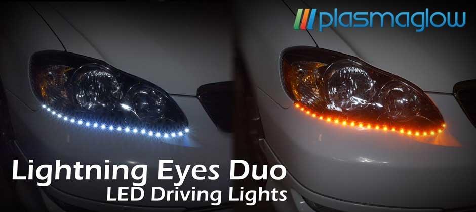 LIGHTNING EYES LED DUO HEADLIGHT KIT(BLUE/WHITE) - FREE SHIPPING