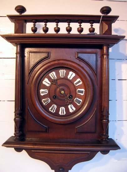 French Cartouche Dial Gallery Wall Clock