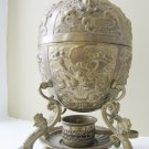 Brass Plated Egg Boiler with Spirit Lamp, c 1850