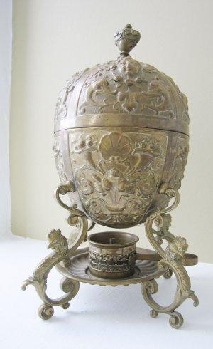 Brass Plated Egg Boiler with Spirit Lamp, c 1850