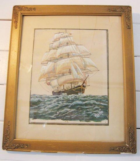 Ship Watercolour