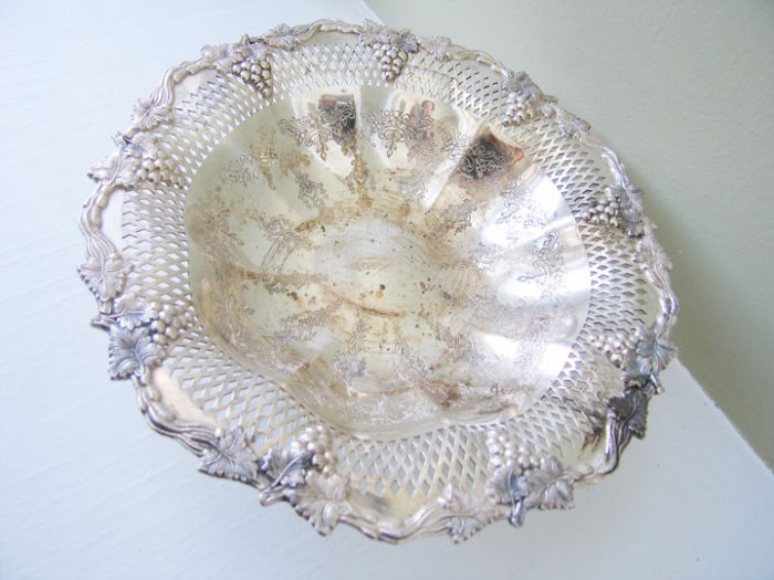 Silver plate Fruit Bowl - sheffield