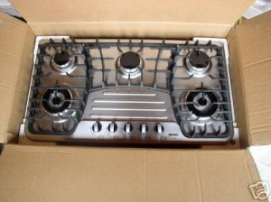 36 inch jasmine stainless steel gas cooktop