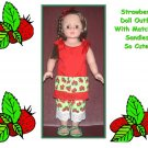 Doll Top with Leggins, Sandals Strawberry Patch