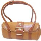 Rina Rich Large Clutch Handbag Camel
