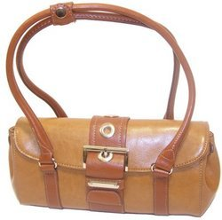 Rina Rich Large Clutch Handbag Camel