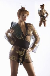 3pc Sexy Geisha Sexy Lingerie