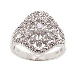 Diamond White Gold Heart Cocktail Ring