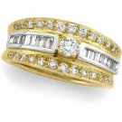 14K Two Tone Gold Diamond Bridal Engagement Ring